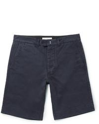 Short en coton bleu marine Officine Generale