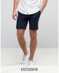Short en coton bleu marine ONLY & SONS