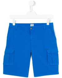 Short en coton bleu Armani Junior