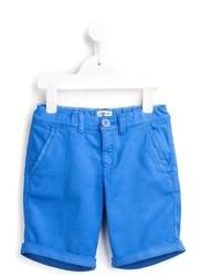 Short en coton bleu Armani Junior
