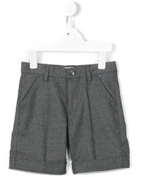 Short en coton gris foncé Il Gufo