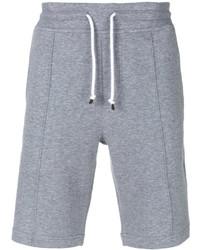 Short en coton gris Brunello Cucinelli