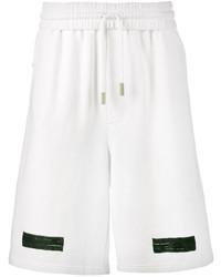 Short en coton imprimé blanc Off-White