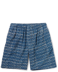 Short en coton imprimé bleu Beams