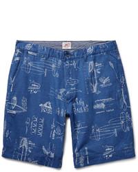 Short en coton imprimé bleu Faherty