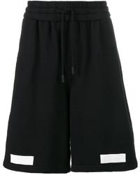 Short en coton imprimé noir Off-White
