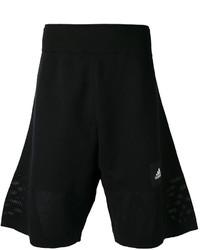 Short en coton noir adidas