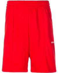 Short en coton rouge adidas