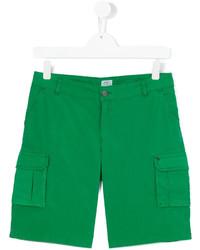 Short en coton vert Armani Junior
