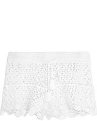 Short en crochet blanc
