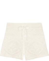 Short en crochet blanc Emilio Pucci