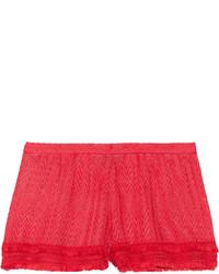 Short en crochet rouge Missoni