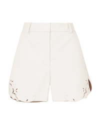 Short en cuir blanc Stella McCartney