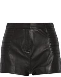 Short en cuir noir Balmain