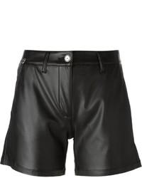 Short en cuir noir Ermanno Scervino