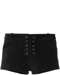 Short en cuir noir Etoile Isabel Marant