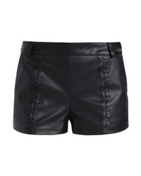 Short en cuir noir Even&Odd