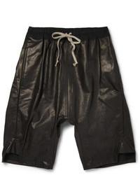 Short en cuir noir Rick Owens