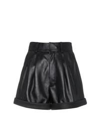 Short en cuir noir Saint Laurent
