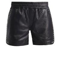 Short en cuir noir Sofie Schnoor