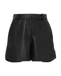 Short en cuir noir Stella McCartney
