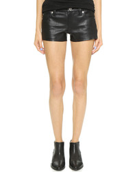 Short en cuir noir True Religion
