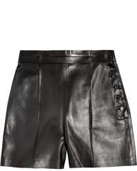 Short en cuir noir Valentino