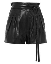 Short en cuir plissé noir IRO