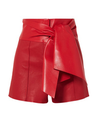 Short en cuir rouge Valentino