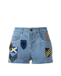Short en denim à patchwork bleu Mr & Mrs Italy