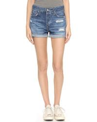 Short en denim bleu clair AG Jeans