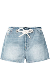 Short en denim bleu clair Diesel