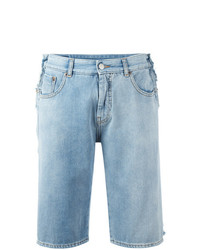 Short en denim bleu clair MM6 MAISON MARGIELA