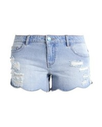 Short en denim bleu clair Only
