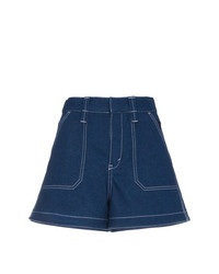 Short en denim bleu marine Chloé