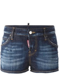 Short en denim bleu marine Dsquared2