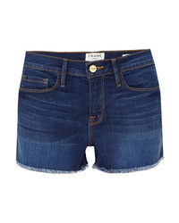Short en denim bleu marine Frame