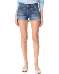 Short en denim bleu 7 For All Mankind