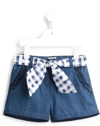 Short en denim bleu Armani Junior