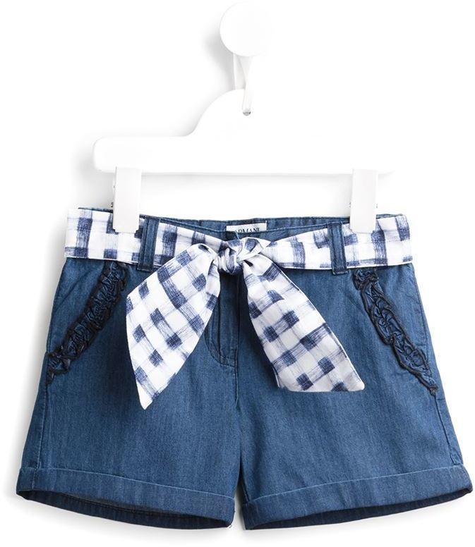 Short en denim bleu Armani Junior
