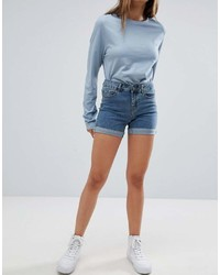 Short en denim bleu Noisy May