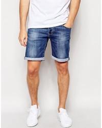 Short en denim bleu Pepe Jeans
