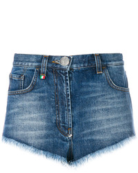 Short en denim bleu Philipp Plein