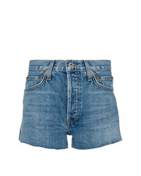 Short en denim bleu RE/DONE