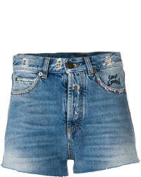 Short en denim bleu Saint Laurent