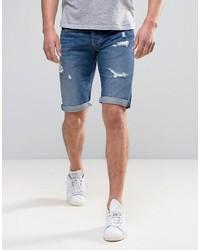 Short en denim déchiré bleu Pepe Jeans