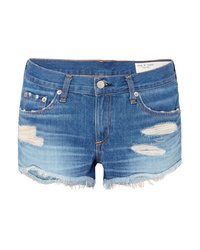 Short en denim déchiré bleu Rag & Bone