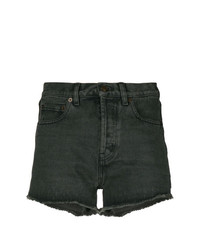 Short en denim gris foncé Saint Laurent