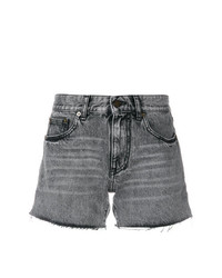 Short en denim gris Saint Laurent