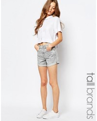 Short en denim gris
